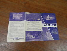 BROCHURE TOURISME SAVOIE / LA LECHERE LES BAINS SOURCE RADIANA vers 1935
