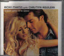 Ricky Martin with Christina Aquilera-Nobody wants To Be Lonely cd maxi single