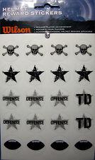 NEW HELMET REWARD STICKERS Defense Offense Football Helmet TD Stars WILSON