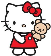 "(#10D) Hello Kitty with Puppet sticker 4.5"" x 5"" decal"