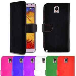PU Leather Wallet Case Cover For Samsung Galaxy Note 3