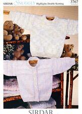 Sirdar Snuggly DK Knitting Pattern 3767 Sweater & Cardigan Baby Children NB-4yrs