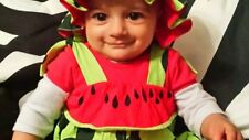 baby boys girls summer costume 9-24 months WATER MELON romper+hat,Uk seller,