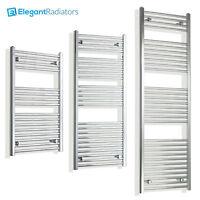 550 mm Wide Chrome Ladder Heated Towel Rail Radiator Designer Bathroom Straight