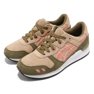 Asics Gel-Lyte III 3 Brown Pink White Women Casual Lifestyle Shoes H8B6L-1725