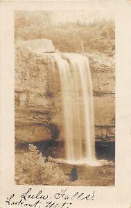 H48/ Lookout Mountain Tennessee Postcard RPPC c1910 Lulu Falls Waterfall