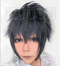 Final Fantasy XV FF15 Noctis Lucis Caelum Blue Gray Black Mixed Cosplay Hair Wig