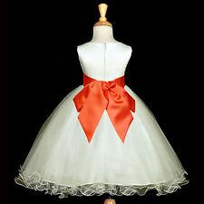 PAGEANT DRESS FLOWER GIRL RECITAL RECEPTION TODDLER JUNIORY FORMAL WEDDING CHILD