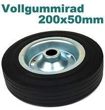 Rad Ø200x50 mm Vollgummi Räder Transportrad Transport-Rolle Gummirad 150kg v231