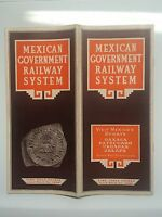 1938 Mexican Government Railway System Timetable Brochure Mexico Oaxaca Jalapa +