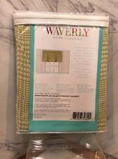 "Waverly Grantham Plaid Straight Valance  52x18""L Celery Green  NIP Spring"