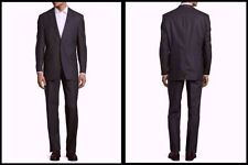 Patternless Two Button 100% Wool Suits for Men