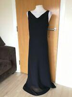 Ladies Dress Size 12 ONYX Black Chiffon Party Evening Wedding Maxi Ballgown
