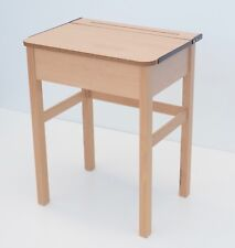 School desk with solid Beech frame single with lift up lid to locker Brand New