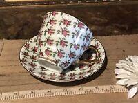 Vintage Porcelain Pink Chintz Cup & Saucer
