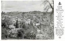 RPPC,Sutter Creek,California,Bird's Eye View,Amador County,Frasher Photo,1950s
