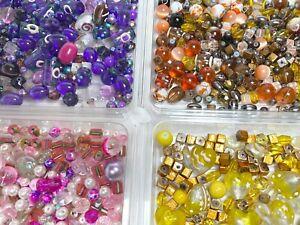 Bulk Beads for Bracelet Making 10 lb Mix Glass Beads Brown Yellow PURPLE PINK