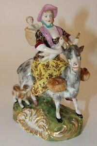 "Antique Samson Derby 5"" Figurine The Tailors Wife c1860 VGC"