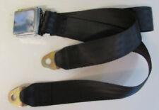 """Chrome Lift Vintage Buckle Non Retractable Universal Lap Seat Belt: Black, 60"""""""