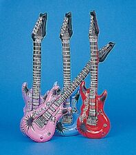 "12 Inflatable Guitars 22"" Party Favors Colors May Vary"