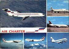 Flugzeuge color Postkarte Postcard Airline Air Charter mit Airbus und Boeing