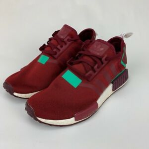 Adidas Womens NMD R1 Running Shoes Red BD8007 Low Top Lace Up Sneakers 9 M