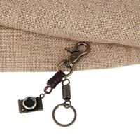 Vintage Camera Shape Leather Metal Key Chain Key Holder Men Fashion Jewelry