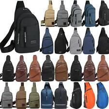 Mens Retro Chest Bag Sling Pack Outdoor Casual Sports Crossbody Shoulder Satchel