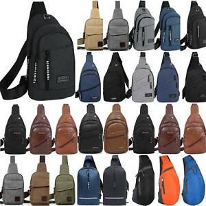 Mens Chest Bag Sling Backpack Single Strap Crossbody Shoulder Pack Pouch