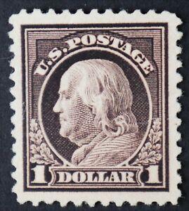 U.S. Mint #518 $1 Franklin, Superb Jumbo. Never Hinged. Natural Gum Skip. A Gem!