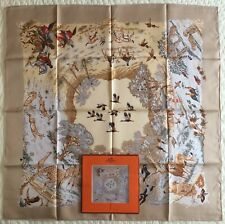 Vintage~NEW~HERMES~Africa~Dallet~100% Silk~Scarf~Carre~90 cm~France~Org Envelope