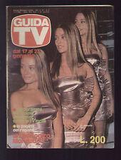 GUIDA TV 2/1982 TRIX MARIA LAURA EMILIA EUGENIA FERNANDEZ ROUSSEE TRILLIZAS ORO