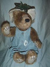"Boyds Bears Bearwear Bear Bean 14"" Plush Soft Toy Stuffed Animal"