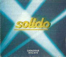 Catalogue Solido 1978 modélisme Age d'or militaire Tonergam  jouet toy