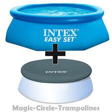 Intex Easy Set Quick Up Pool Planschbecken 305 x 76 cm mit abdeckplane 305