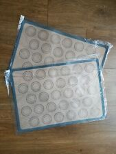2 x Reusable Macaroon Silicone Baking Mat Tray Non Stick Oven Liner