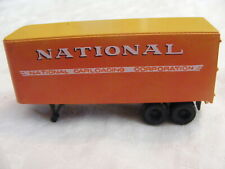 Vintage Ho Scale National Carloading Service 25' Trailer b