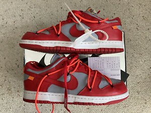 Size 9- Nike Dunk Low x OFF-WHITE University Red 2019
