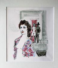 Sidney Horne Shepherd 1909-1993 Ladies of the Night mounted monoprint