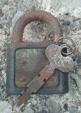 Antique Yale Padlock No 1 with Key.