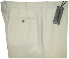 $425 NEW ZANELLA PARKER ANTIQUE WHITE PUTTY SUPER 130'S WOOL GOLF DRESS PANTS 36