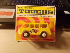 1970 Tootsietoy Toughs Diecast Busy Bee Bus Unopened On Unpunched Card Yellow