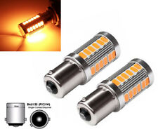 2X 1156 BAU15S PY21W LED Daytime Running Light Amber Orange Bulb 33 SMD US POST