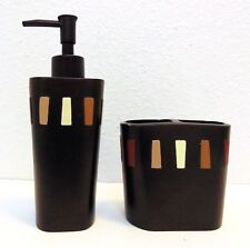 Mainstays Bath Set Lotion or Soap Dispenser and Toothbrush Holder