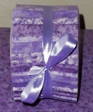 "Honey Bun Fabric Strips  Quilting 20~1.5"" Lavender Purple Pastel Mix 100% Cotton"