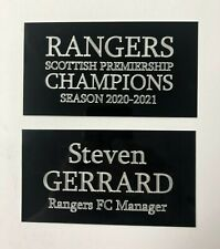 Steven Gerrard Rangers FC - 130x70mm Engraved Plaque Set for Signed Memorabilia