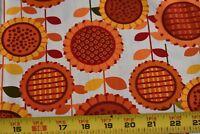 "33"" Long, Yellow & Orange Sunflowers on Quilt Cotton, Kanvas/Greta Lynn, N2904"