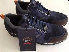 NEW Paul & Shark Shoes Scarpe Size 46 LEATHER BLUE