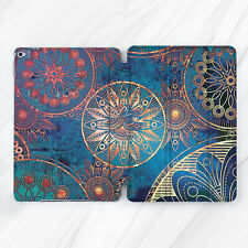 Bohemian Gold Blue Mandala Case For iPad 10.2 Air 3 Pro 9.7 10.5 12.9 Mini 4 5