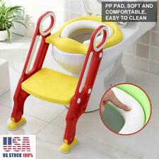 Toddler Toilet Chair Kids Potty Training Seat w/ Step Stool Ladder for Child Us